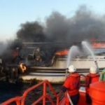 FISHING BOAT FIRE RESULTS IN FATALITY