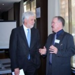 Jeffrey Wiszniewski (right) with the former British Ambassador to Spain